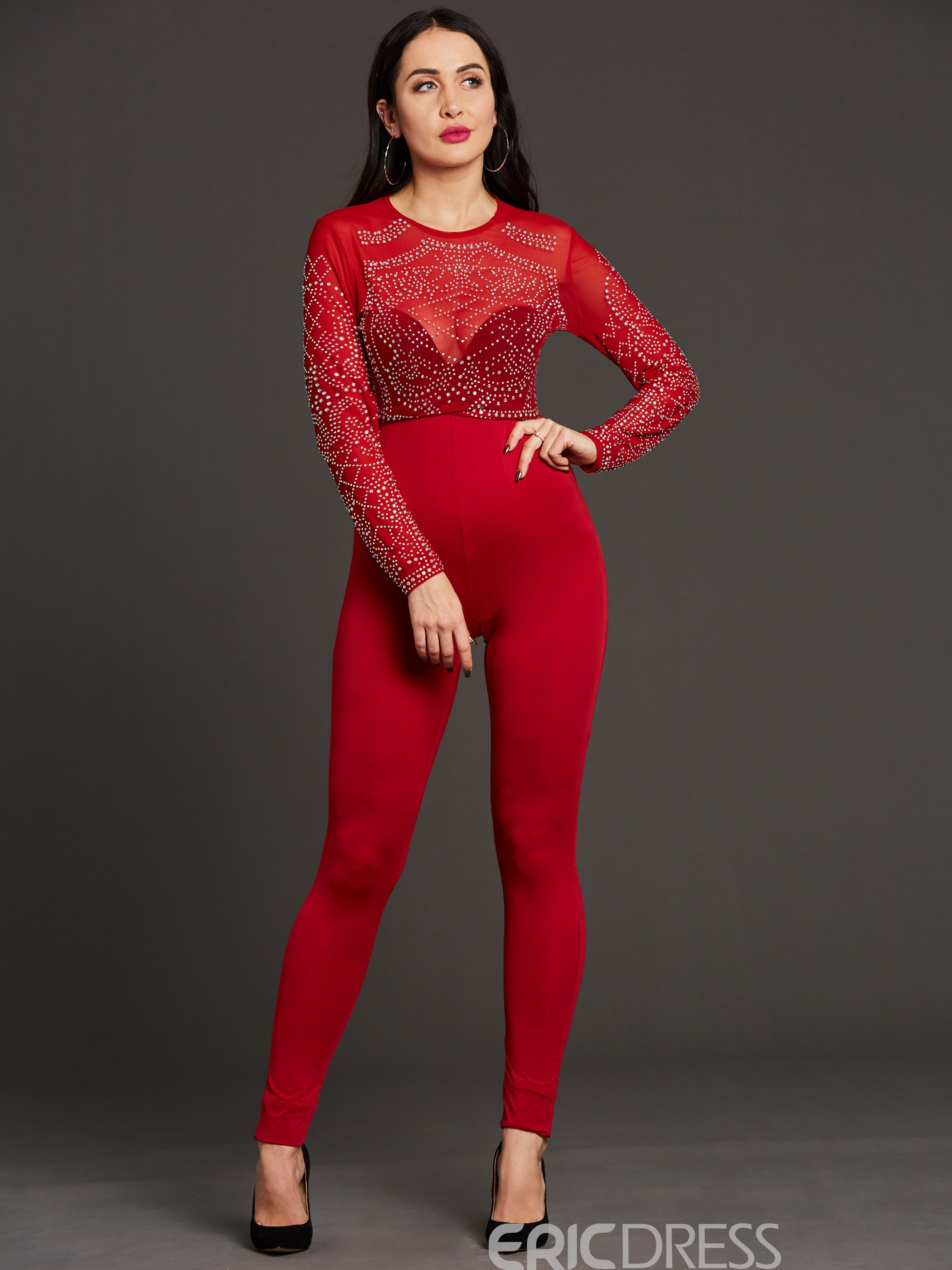 Ericdress Unique Decoration Jumpsuits Pants
