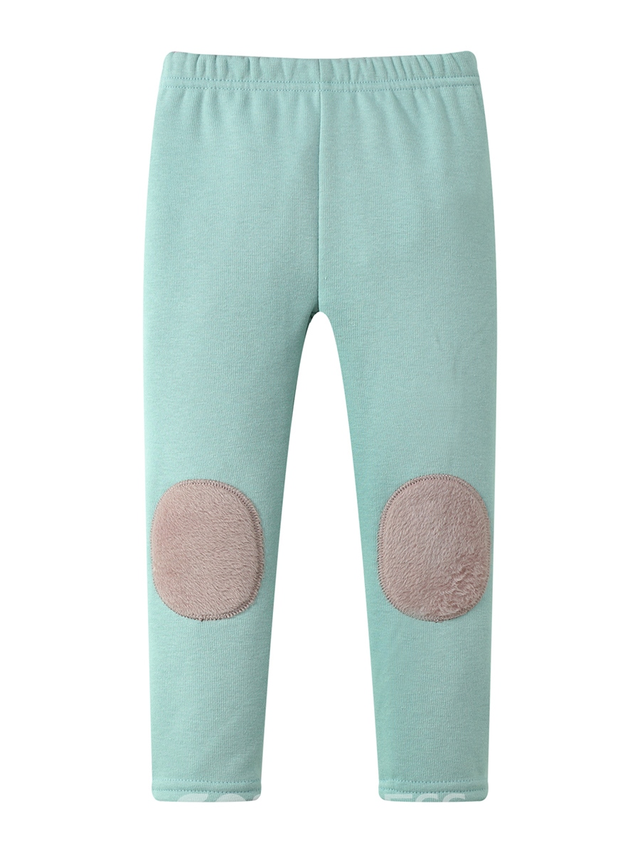 Ericdress Patchwork Fleece Girls' Leggings