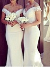 Ericdress Charming Off The Shoulder Lace Mermaid Bridesmaid Dress