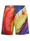 Ericdress Feather Printed Men's Swim Trunks Beach Board Shorts With Mesh Lining