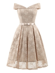 Ericdress Knee-Length Lace Pullover Womens A-Line Dress thumbnail