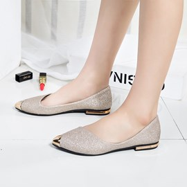 Ericdress Sequin Pointed Toe Slip-On Women's Flats