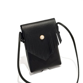 Ericdress Tassel Pearl Magnetic Snap Crossbody Bag