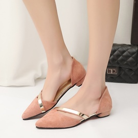 Ericdress Plain Pointed Toe Women's Flats
