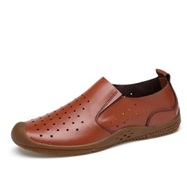 Ericdress Hollow Comfy Slip-On Plain Men's Casual Shoes