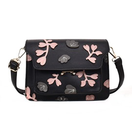 Ericdress Concise Floral Pattern Crossbody Bag