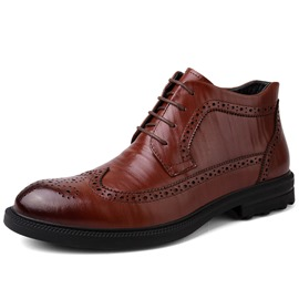 Ericdress Plain Round Toe All Match Men's Boots
