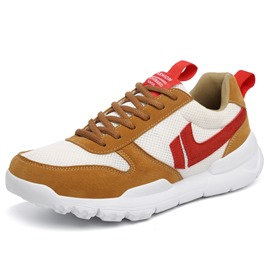 Ericdress Solid Color Block Lace-Up Men's Athletic Shoes