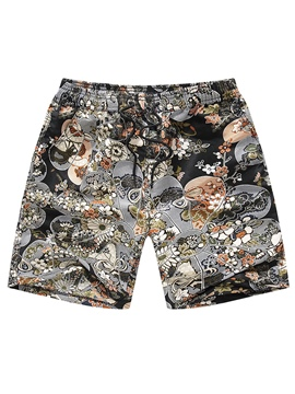 Ericdress Floral Print Japanese Style Men's Casual Swim Shorts Beach Board Trunks