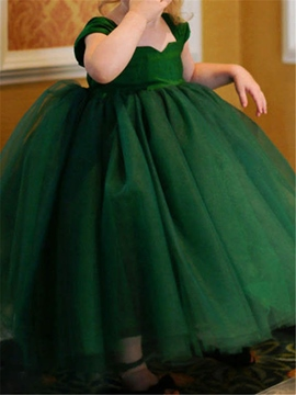 Ericdress High Quality Tulle Ball Gown Empire Flower Girl Dress