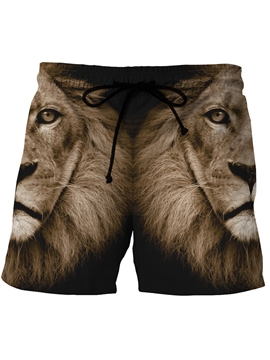 Ericdress Lion Print Men's Swim Trunks Beach Board Shorts