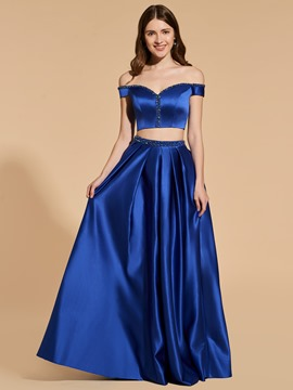 Ericdress A Line Off The Shoulder Two Pieces Prom Dress