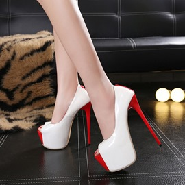 Ericdress Sexy Peep Toe Color Block Platform Stiletto Heel Shoes