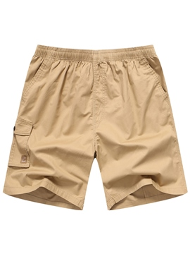 Ericdress Plain Men's Swim Trunks Quick Dry Water Beach Board Shorts With Side Pocket