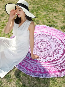Ericdress Geometric Pattern Round Beach Blanket