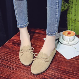 Ericdress Low-Cut Round Toe Women's Flats with Bowknot