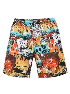 Ericdress Cartoon Hand Painted Men's Board Shorts Swimwear Trunks