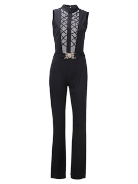 Ericdress Slim Hollow Women's Jumpsuits