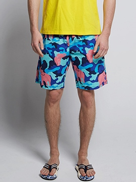 Ericdress Camouflage Printed Men's Casual Swim Shorts Beach Board Trunks