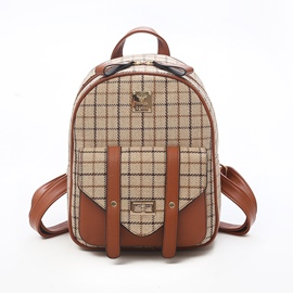 Ericdress Classic Plaid Pattern Women Backpack