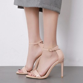 Ericdress Plain Open Toe Low-Cut Stiletto Sandals