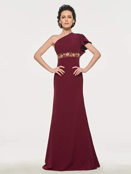 Ericdress One Shoulder A Line Mother of the Bride Dress