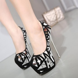 Ericdress Color Block Platform Round Toe Stiletto Heel Women's Shoes