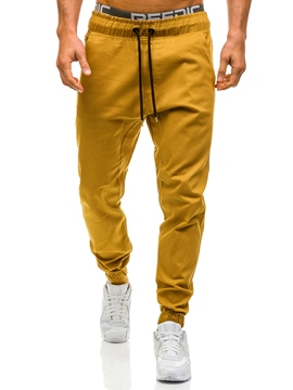 Ericdress Lace-Up Loose Men's Casual Pants