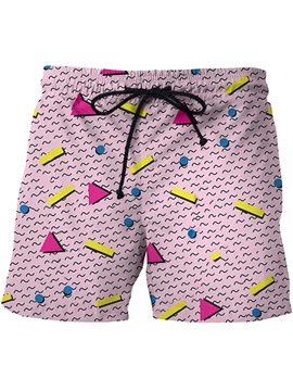Ericdress Geometric Pattern Men's Print Beach Board Swim Trunks