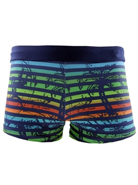 Ericdress Coconut Tree Stripe Men's Swimwear Trunk Boxer Briefs Underwear