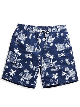Ericdress Floral Print Quick Dry Lightweight Men's Board Shorts Swimwear