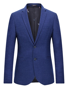 Ericdress Plain Two Button Men's Slim Fit Jacket Blazer With Pocket