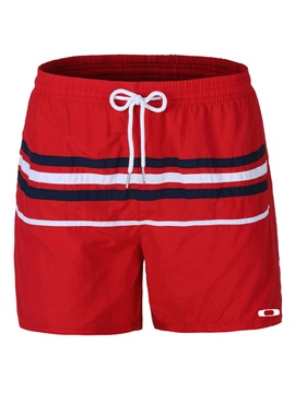 Ericdress Patchwork Color Block Men's Beach Shorts Swim Trunks With Mesh Lining