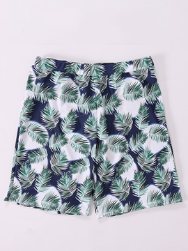 Ericdress Men's Leaf Print Swimwear Beach Shorts Swim Trunks