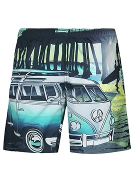 Ericdress Cartoon Men's Swim Trunks Beach Board Shorts Swimwear