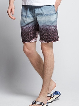 Ericdress Lace Up Print Men's Swim Trunks Beach Board Shorts