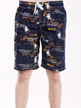 Ericdress Leaf Print Men's Beach Board Shorts Swim Trunks With Mesh Lining