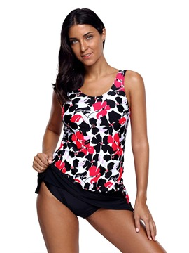 Ericdress Floral Print Conservative Tankini Set
