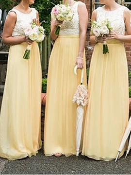 Ericdress Appliques A-Line Long Bridesmaid Dress