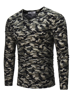 Ericdress Camouflage Men's Casual T Shirt