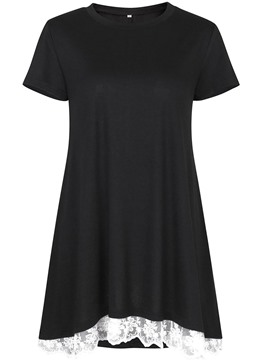 ericdress lockeres, mittellanges T-Shirt