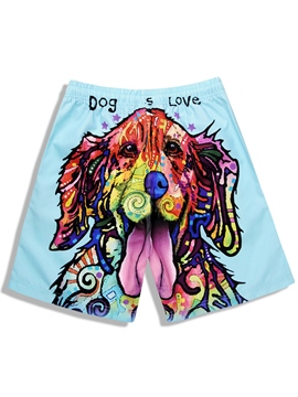 Ericdress Cartoon Dog Printed Men's Swim Shorts Beach Board Trunks