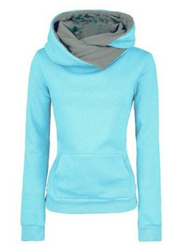 Ericdress Slim Plain Thick Hooded Cool Hoodie