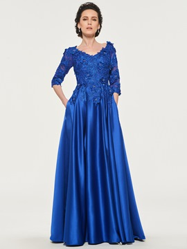 Ericdress A-Line Half Sleeves Mother of the Bride Dress
