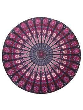 Ericdress Plant Pattern Round Beach Blanket