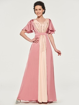 Ericdress A-Line Short Sleeves Mother of the Bride Dress