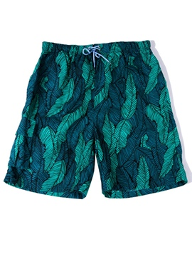 Ericdress Floral print Men's Swim Trunks Swimwear Beach Board Shorts With Mesh Lining