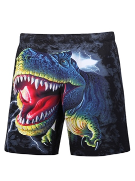 Ericdress Cartoon Men's Beach Board Swim Trunks With Mesh Lining