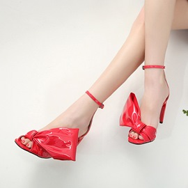 Ericdress Fashion Bowknot Decorated Open Toe Stiletto Sandals