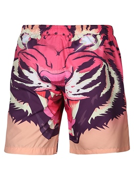 Ericdress Tiger Cartoon Swim Trunks Men's Beach Board Shorts Swimwear
